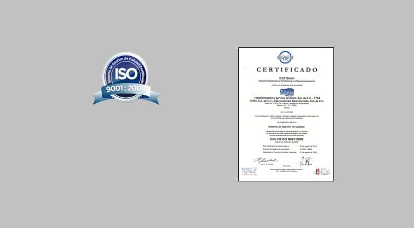 iso 2008 certificado