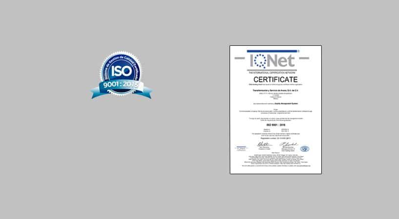 iso 2015 certificado
